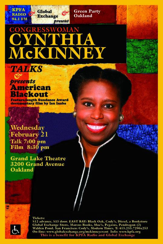 Cynthia McKinney American Blackout