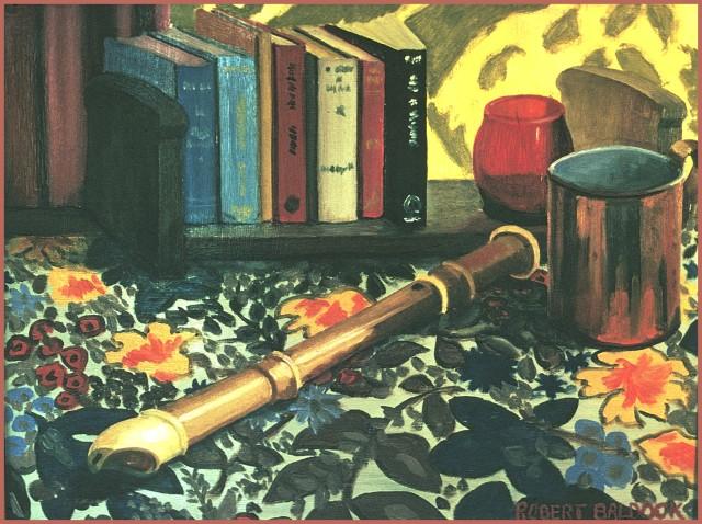 flute & books