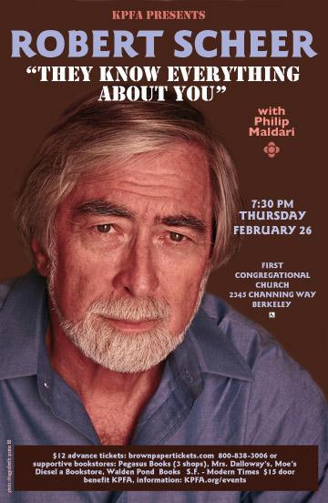 Robert Scheer in Berkeley poster