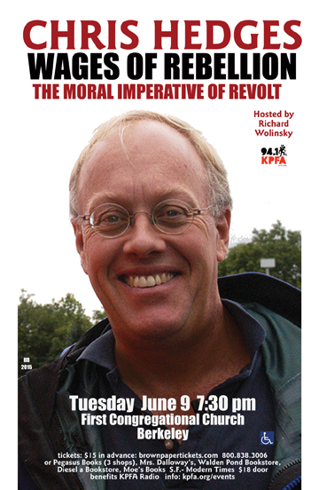 chris hedges in berkeley
