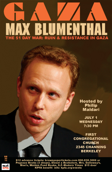 Max Blumenthal in Berkeley