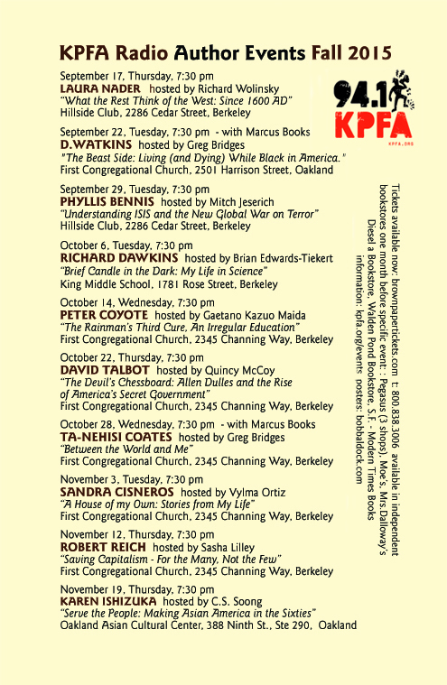 KPFA Fall.2015.events