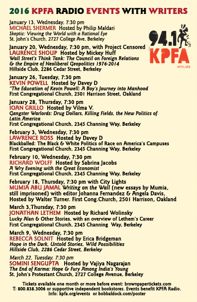 *KPFA Winter Author Events