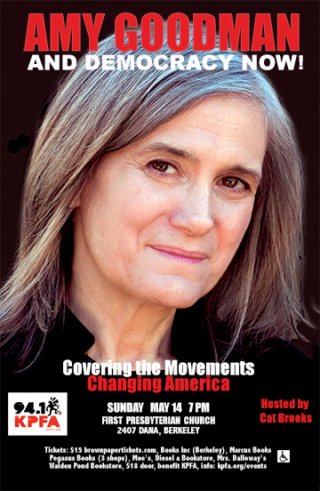 amy goodman in berkeley 2017