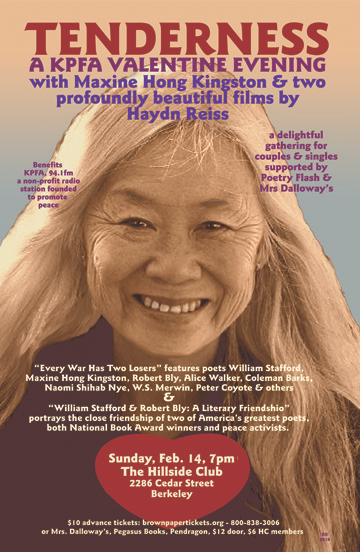 Tenderness - A KPFA Valentine Evening - Maxine Hong Kingston - feb 14, 2010