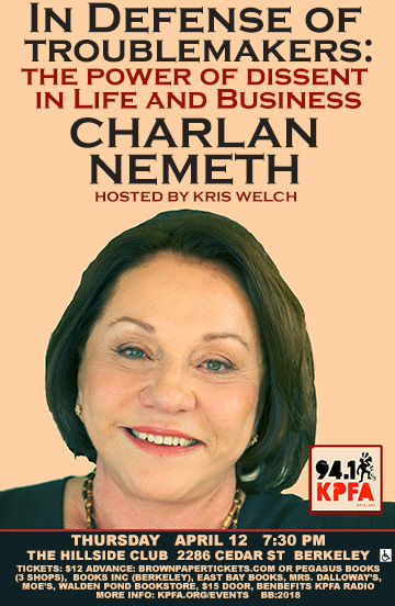 Charlan Nemeth in Berkeley