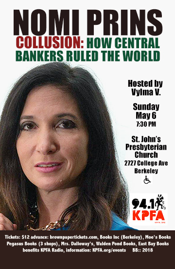 NOMI PRINS in Berkeley