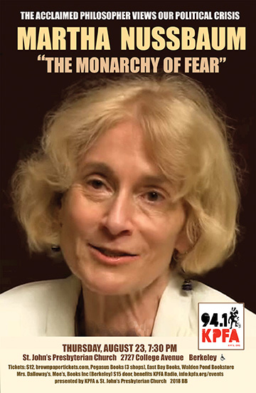 Martha Nussbaum in Berkeley
