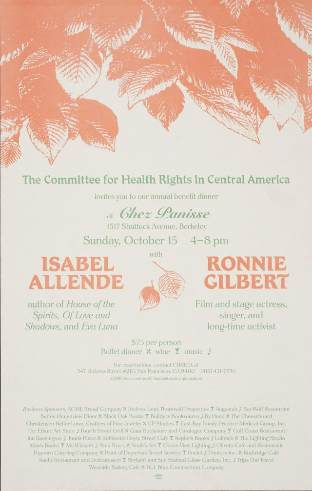 CHRCA Benefit Dinner | Isabel Allende | Ronnie Gilbert