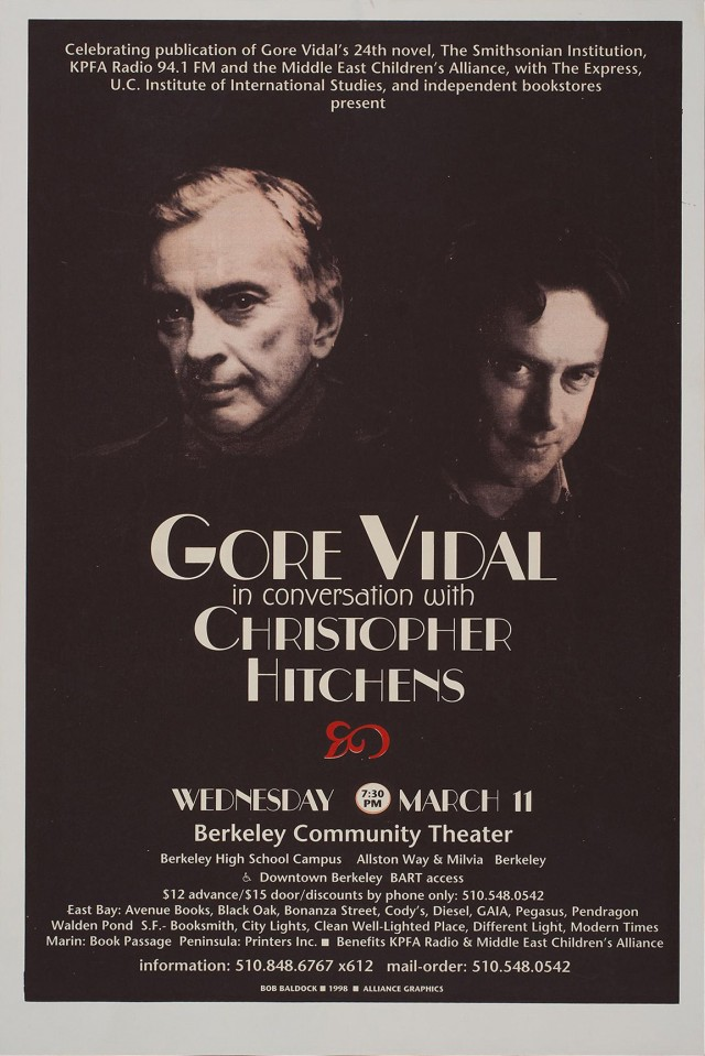 Gore Vidal in Conversation with Christopher HItchens