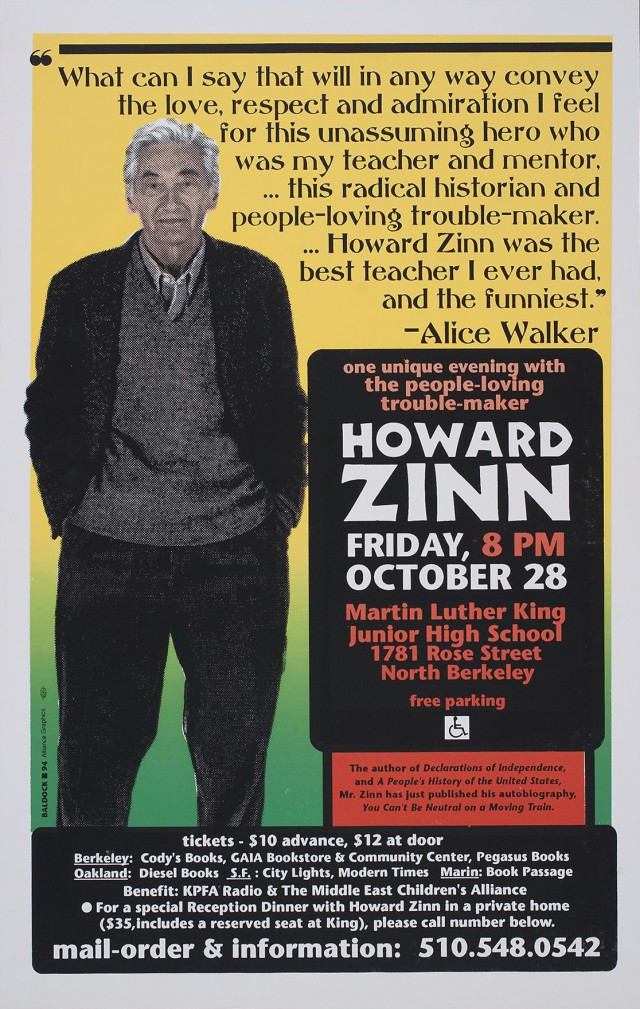 One Unique Evening with Howard Zinn