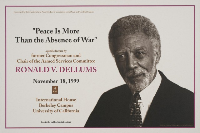 Peace Is More Than the Absence of War | Ronald V. Dellums