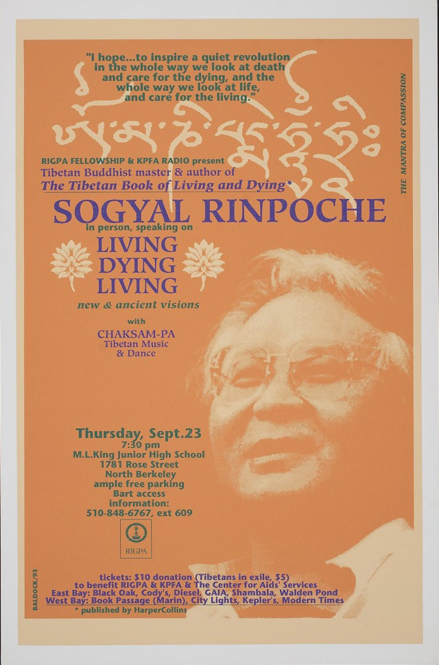 Sogyal Rinpoche speaking on Living Dying Living
