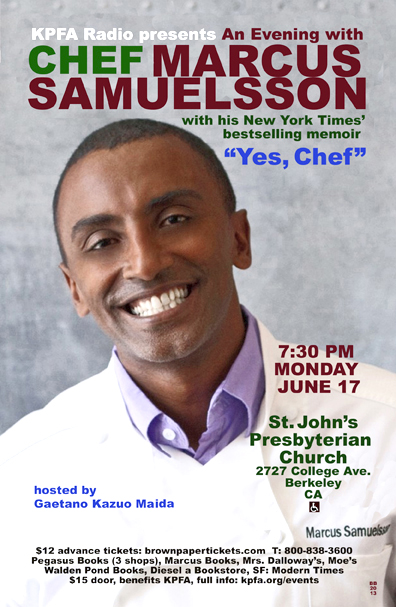 Chef Marcus Samuelsson in Berkeley - June 2013