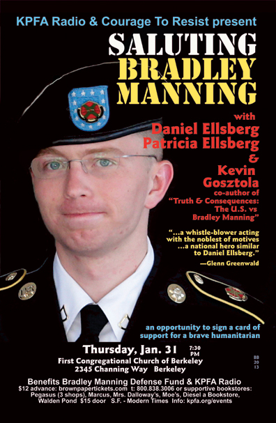 Saluting Bradley Manning - Jan 2013