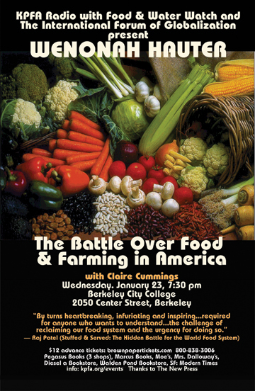 The Battle over Food and Farming in America - Wenonah Hauter - January 2013